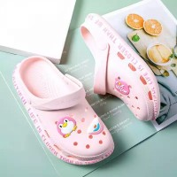 Hollow Clog Style Soft Wear Slippers - PInk