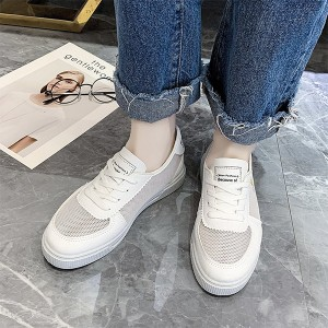 Mesh See Through Breathable Casual Wear Sneakers - White