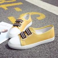 Flat Wear Canvas Women Fashion Sneakers - Yellow