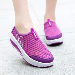 Hollow Sports Wear Breathable Casual Sneakers - Purple