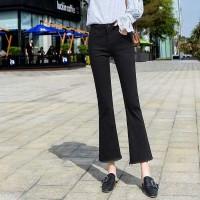 Bell Bottom Fitted Tassel Casual Wear Bottom Pants - Black