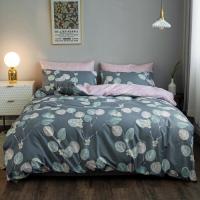 Leaves Design Queen Size 6 Pieces Bedding Set