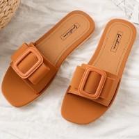 Buckle Style Fancy Flat Base Casual Sneakers - Orange