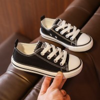 Cute Sports Wear Lace Closure Flat Sneakers - Black
