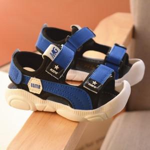 Cute Kids Wear Velcro Closure Slipper Sandals - Blue