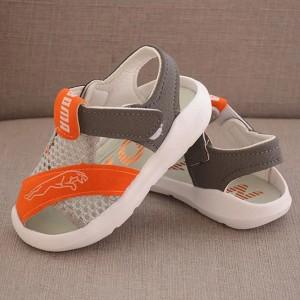Velcro Cute Kids Wear Slipper Sandals - Orange