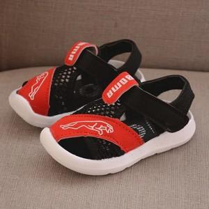 Velcro Cute Kids Wear Slipper Sandals - Red