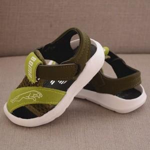 Velcro Cute Kids Wear Slipper Sandals - Green