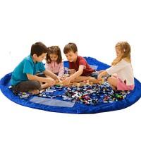 Round Shaped Quick Organizer Kids Big Size Baby Toy Mat - Blue