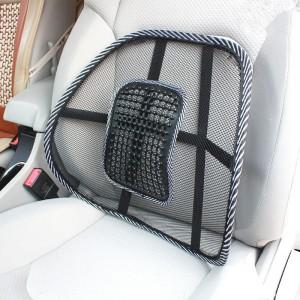 Thicken Car Mesh Breathable Massage Waist Pad - Black
