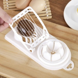 Multi Function Pine Preserved Egg Slicer - White