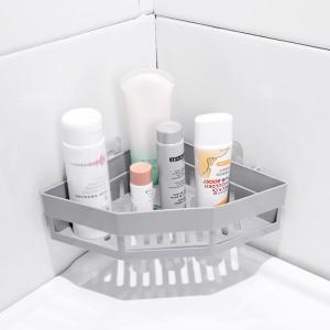 Bathroom Triangle Adhesive Contents Storage Shelf - Gray