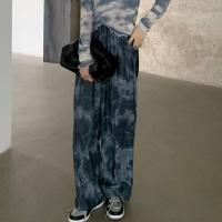 Camouflage Elastic Waist Casual Wear Trousers - Dark Blue