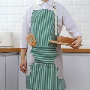 Waterproof Oil Proof Wipeable Kitchen Cooking Apron - Green