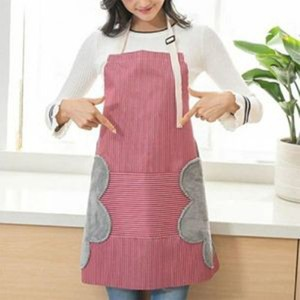 Waterproof Oil Proof Wipeable Kitchen Cooking Apron - Red