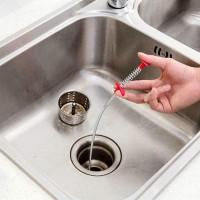 Multifunctional Bendable Grabber Sewer Sink Cleaner Hook - Silver