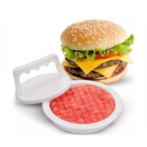 Round Shape Hamburger Meat Patty DIY Mold - White