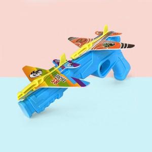 Kids Foam Ejection Aircraft Pistol Launcher - Blue