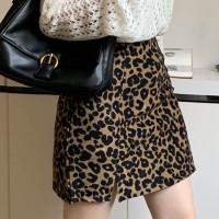 Leopard Printed Mini Fashion Wear Skirt - Leopard Multicolor