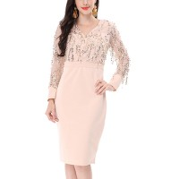 Sequins Decorative Party Wear Tassel Mini Dress