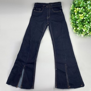 Denim Ripped Vintage Style Zipper Closure Pants - Blue