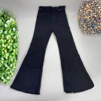 Denim Ripped Vintage Style Zipper Closure Pants - Black