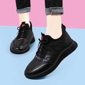 Lace Closure Formal Wear Women Fashion Sneakers - Black