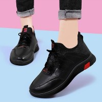 Lace Closure Formal Wear Women Fashion Sneakers - Red