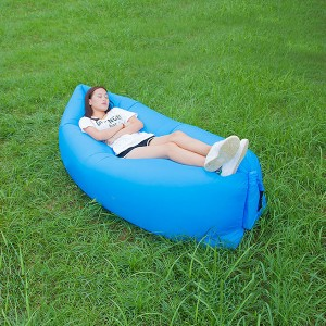 Portable Waterproof Beach Camping Outdoor Inflatable Air Sofa - Blue