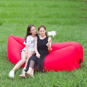 Portable Waterproof Beach Camping Outdoor Inflatable Air Sofa - Red