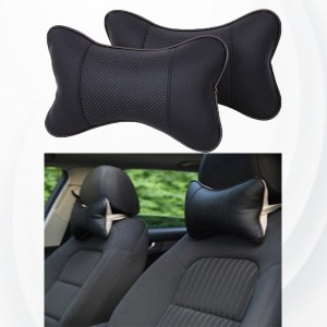 2 Pieces High Quality Small Car Seat Neck Pillow - Black