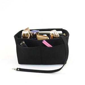 Canvas Traveller Fancy Solid Color Storage Bags - Black