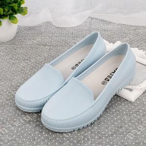 Slip Over Casual Wear Women Fashion Flat Shoes - Blue