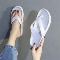 Rubber Soft Sole Casual Wear Flip Flop Slippers - White
