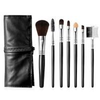Seven Pieces High Quality Women Fashion Makeup Brushes Set - Black