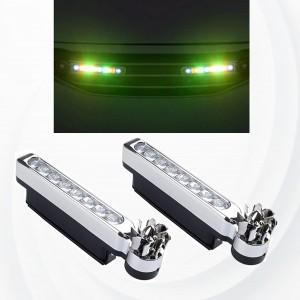 2 Pieces LED Wind Powered Vehicle Decorative Lights Car Lamp - Multi