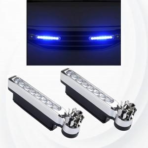2 Pieces LED Wind Powered Vehicle Decorative Lights Car Lamp - Blue