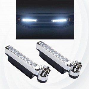 2 Pieces LED Wind Powered Vehicle Decorative Lights Car Lamp - White