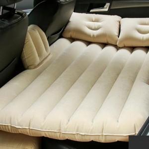 Car Inflatable Universal Travel Sleeping Air Mattress Bed - Beige