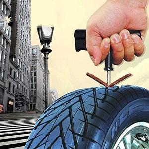 6 Pieces Set Auto Quick Emergency Tire Puncture Tool Kit - Black