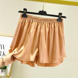 Elastic Waist Loose Casual Wear Women Shorts - Golden