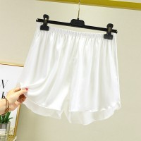 Elastic Waist Loose Casual Wear Women Shorts - White