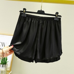 Elastic Waist Loose Casual Wear Women Shorts - Black