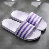 Stripes Contrast Casual Wear Flat Wear Slippers - Purple