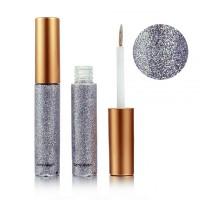 Glitter Shiny Eye Shadow Party Wear Shades - Silver