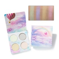 Four Pieces Glittery Face And Eye Shadow Palette 01- Light Shades