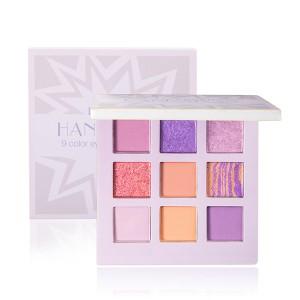 9 Shades Glittery Fancy Water Resistant Eye Shadow Set - Purple