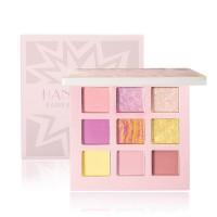 9 Shades Glittery Fancy Water Resistant Eye Shadow Set - Pink
