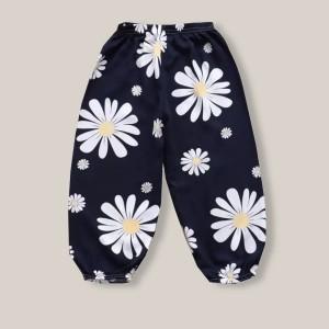 Floral Printed Cotton Narrow Bottom Kids Trouser - Flower