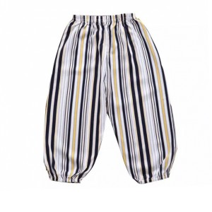 Graphic Printed Narrow Bottom Elastic Waist Bottom Trouser - Black and White